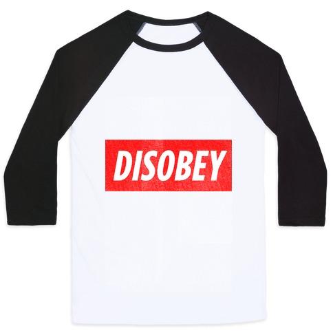Disobey (tank) Baseball Tee