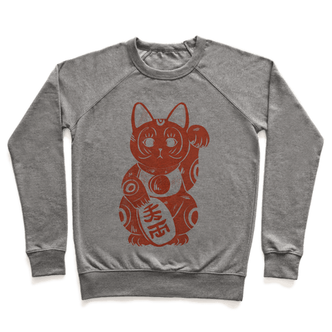 Japanese Lucky Cat Pullover