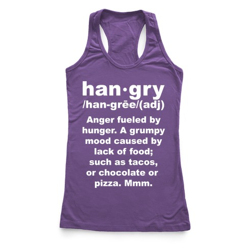 Hangry Definition Racerback Tank Top