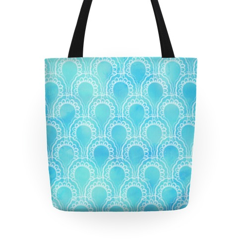 Watercolor Scales Pattern Tote