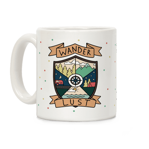 Wanderlust Crest Coffee Mug