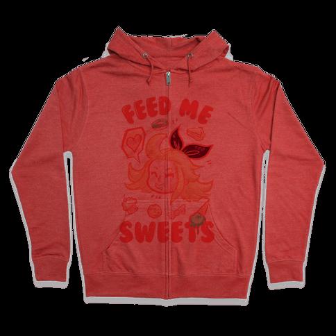 Feed Me Sweets Zip Hoodie