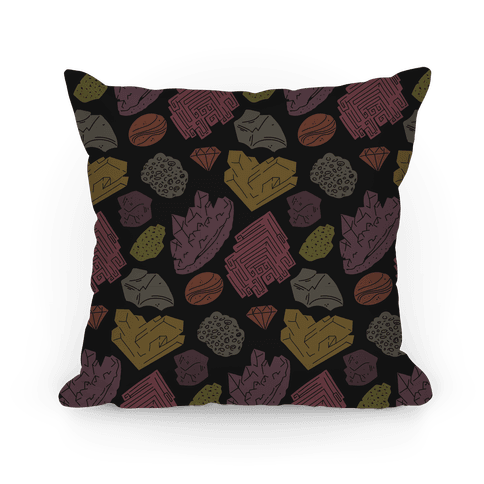 Rock & Mineral Pattern Pillow