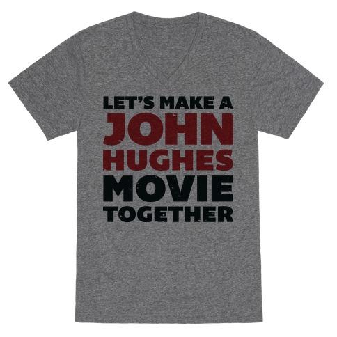 John Hughes Movie V-Neck Tee Shirt