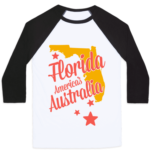Florida: America's Australia Baseball Tee