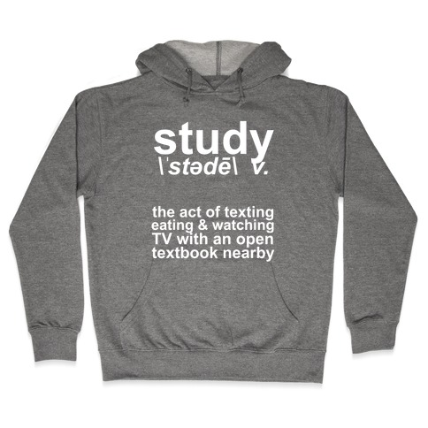 Study Definition Hooded Sweatshirt