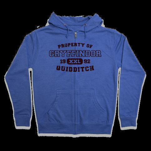 Gryffindor Quiditch Athletics Zip Hoodie