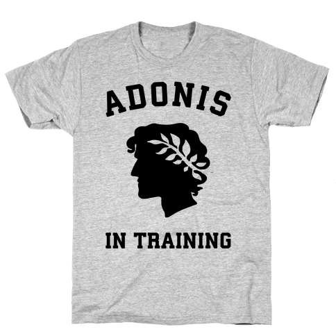 Adonis In Training Mens T-Shirt