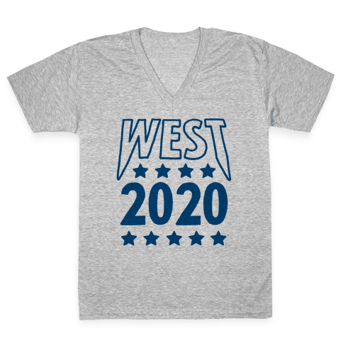 West 2020 V-Neck Tee Shirt