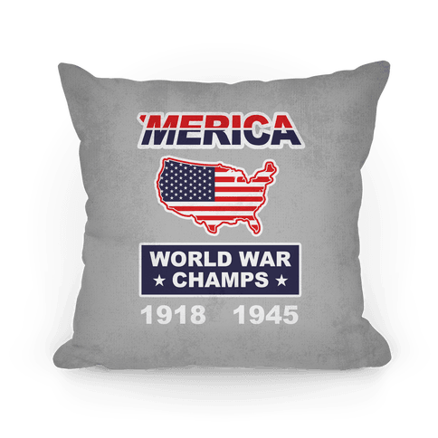 Merica World War Champs Pillow