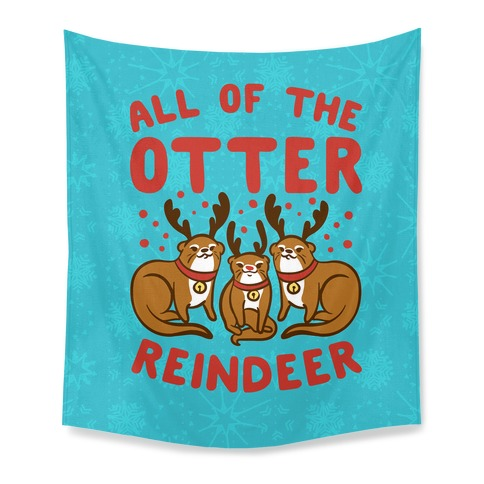 All of The Otter Reindeer Tapestry