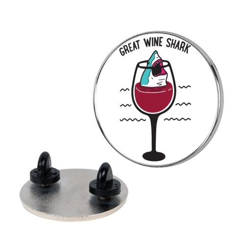 Great Wine Shark Pin