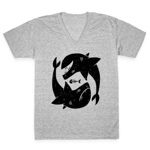 Infinite Sharks V-Neck Tee Shirt