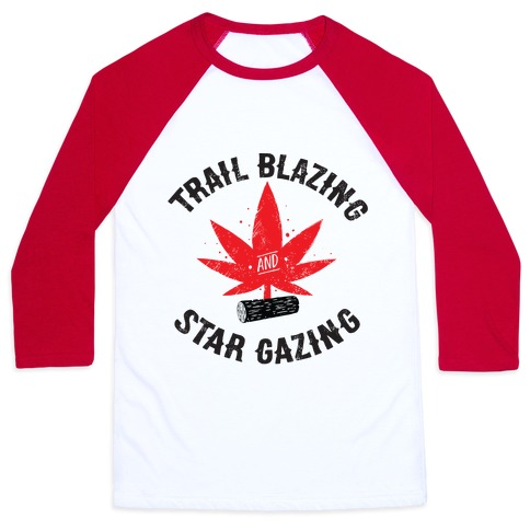 Trail Blazing And Star Gazing Baseball Tee