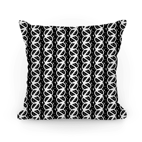 Black and White Braid Stripe Pattern