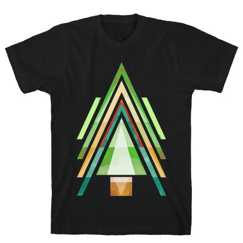 Geometric Summer Tree Mens T-Shirt