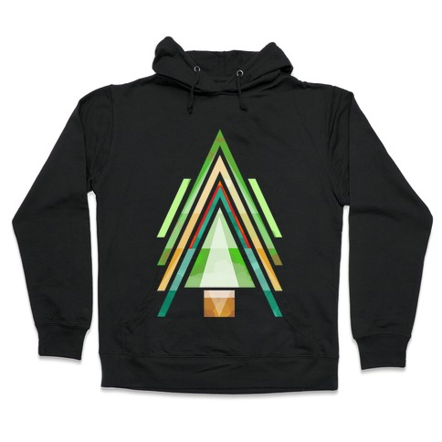 Geometric Summer Tree Hooded Sweatshirt