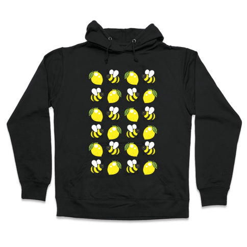 Lemon And Bee Hooded Sweatshirt