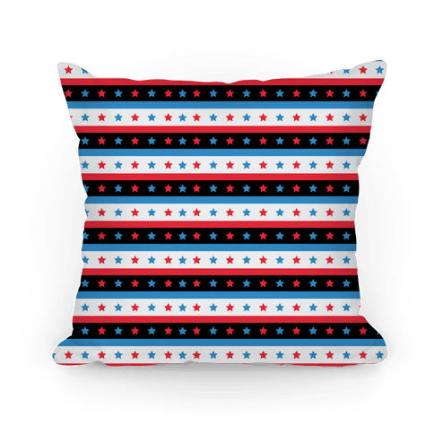 USA Stars and Stripes Pattern Pillow