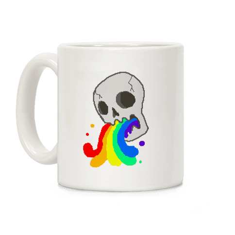 White Skull Wasted Coffee Mug