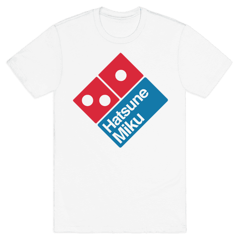 Miku Pizza Mens T-Shirt