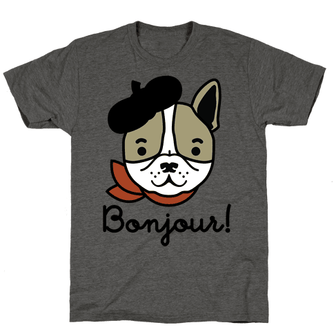 Bonjour French Bulldog Mens T-Shirt