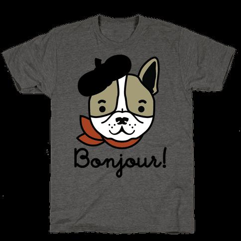 Bonjour French Bulldog Mens T-Shirt