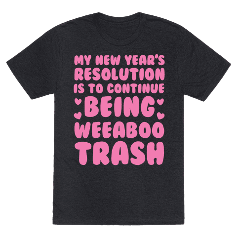My New Year's Resolution is To Continue Being Weeaboo Trash Mens T-Shirt
