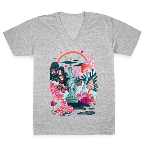 Sugar Witch's Labyrinth V-Neck Tee Shirt