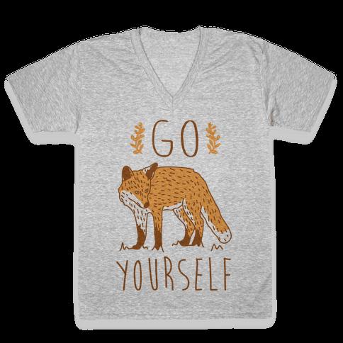 Go Fox Yourself V-Neck Tee Shirt