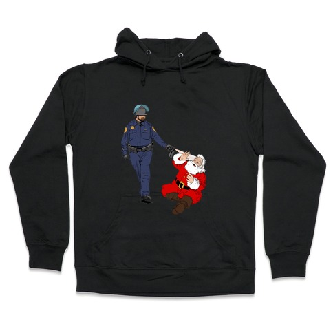 Pike and Santa Hooded Sweatshirt