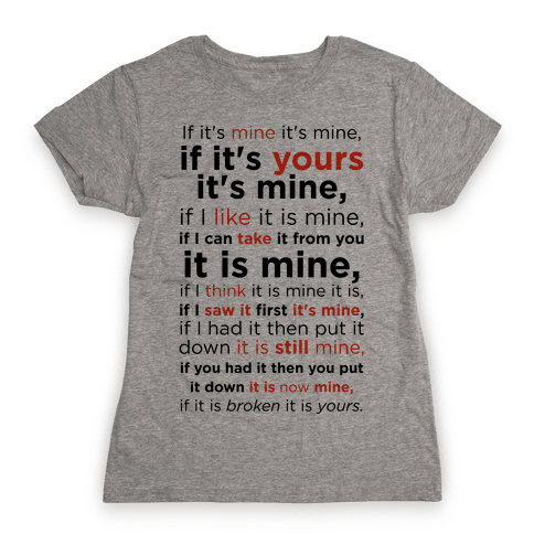 Baby Laws of Possession Womens T-Shirt