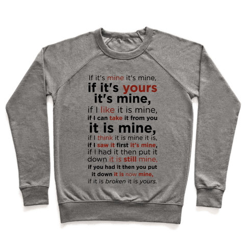 Baby Laws of Possession Pullover