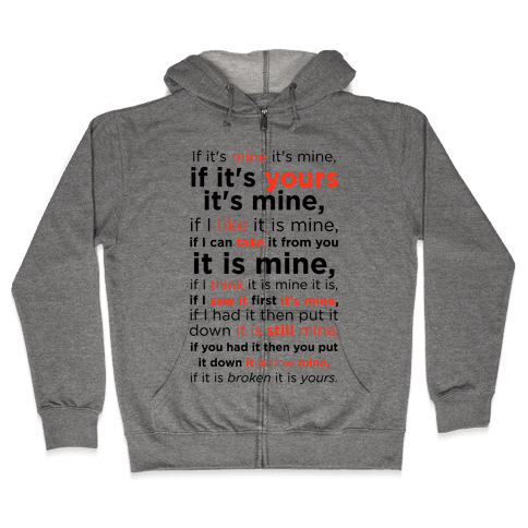Baby Laws of Possession Zip Hoodie