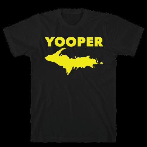 Yooper, Michigan (distressed) Mens T-Shirt