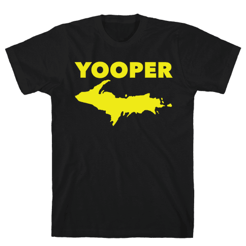 Yooper, Michigan (distressed) Mens T-Shirt