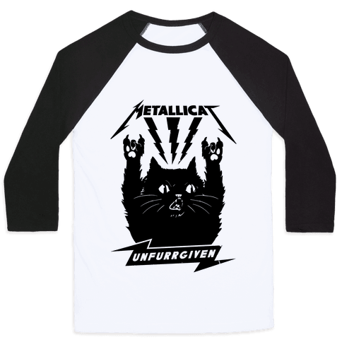Metallicat Unfurrgiven Black Edition Baseball Tee