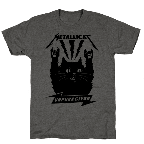Metallicat Unfurrgiven Black Edition Mens T-Shirt