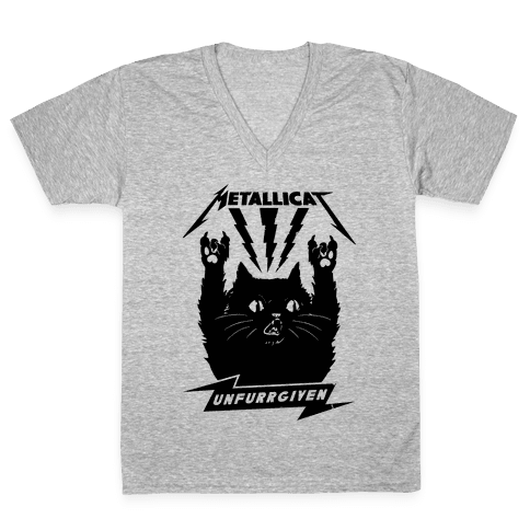 Metallicat Unfurrgiven Black Edition V-Neck Tee Shirt
