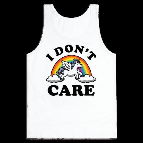 I Don't Care Unicorn Tank Top