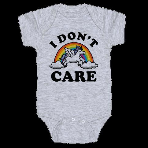 I Don't Care Unicorn Baby Onesy