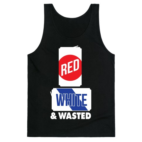 Red, White & Wasted (Tall) Tank Top