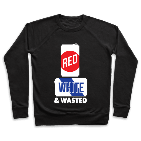 Red, White & Wasted (Tall) Pullover