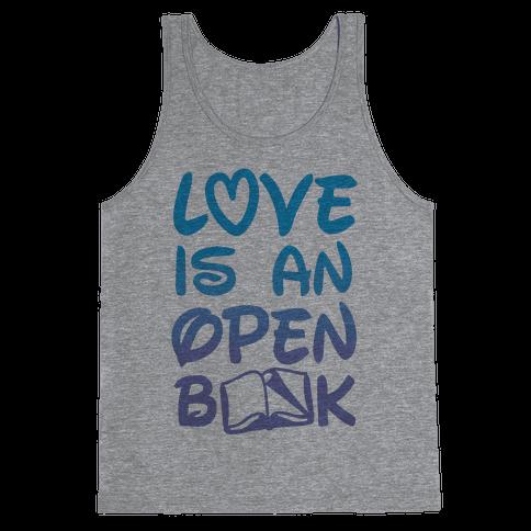 Love Is An Open Book Tank Top