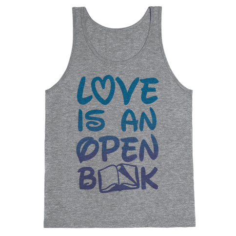 Love Is An Open Book Tank Top