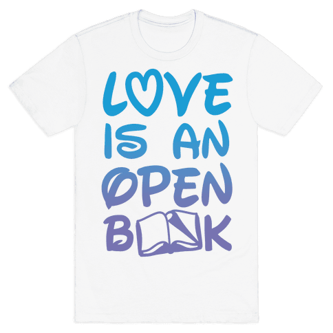 Love Is An Open Book Mens T-Shirt
