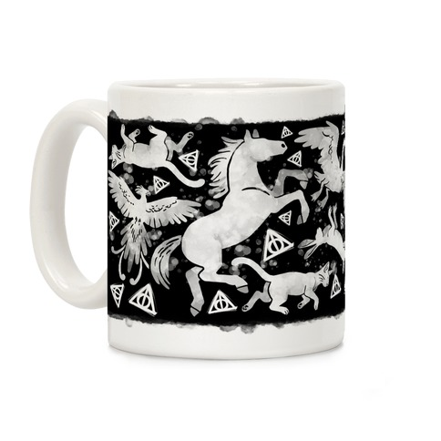 Hogwarts Patronus Pattern Coffee Mug