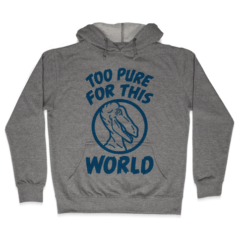 Dinosaurs Are Too Pure For This World Hooded Sweatshirt