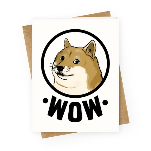 Doge Wow Greeting Card