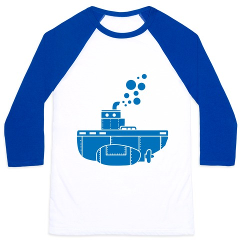 Nautical Submarine Baseball Tee